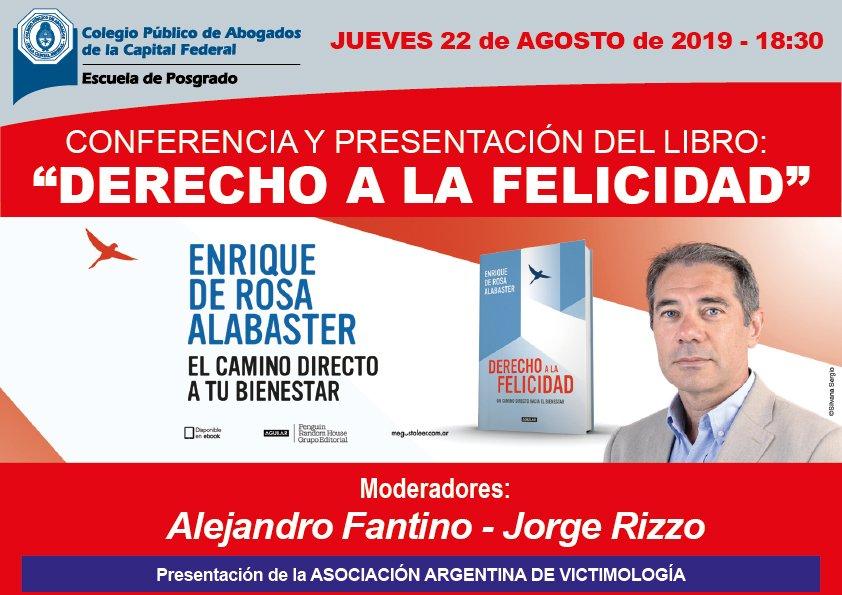 Derecho a la felicidad Enrique De Rosa